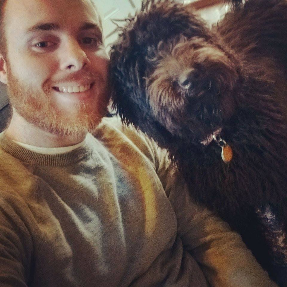 Brian Walsh and Lola the Labradoodle